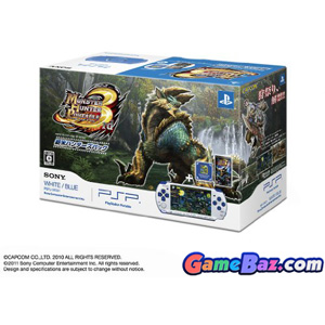 PSP Monster Hunter Portable 3rd Special Model - White/Blue  (PSP-3000 Bundle) [pre-owned] Picture / Boxart